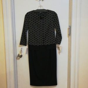 New Woman's Pamela black Taupe dress size 2